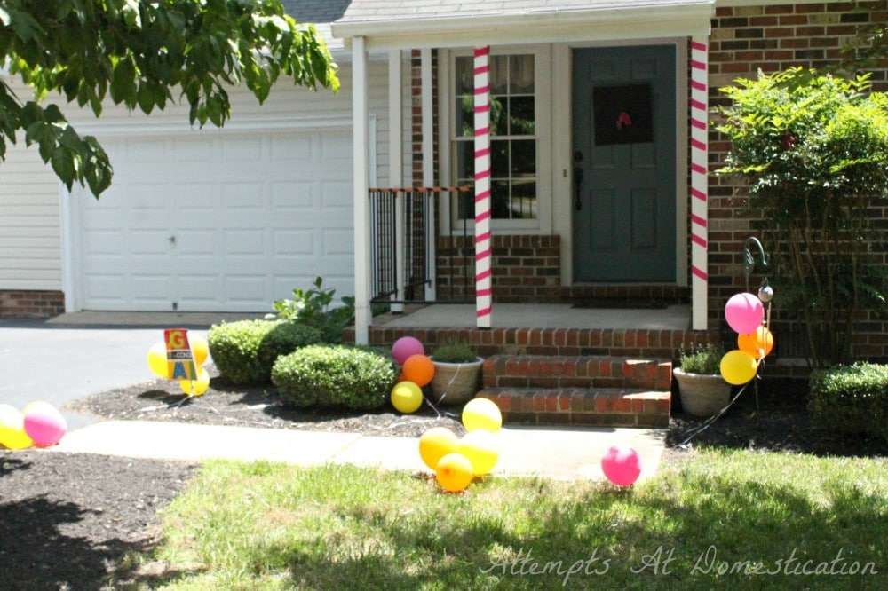 front yard party decor