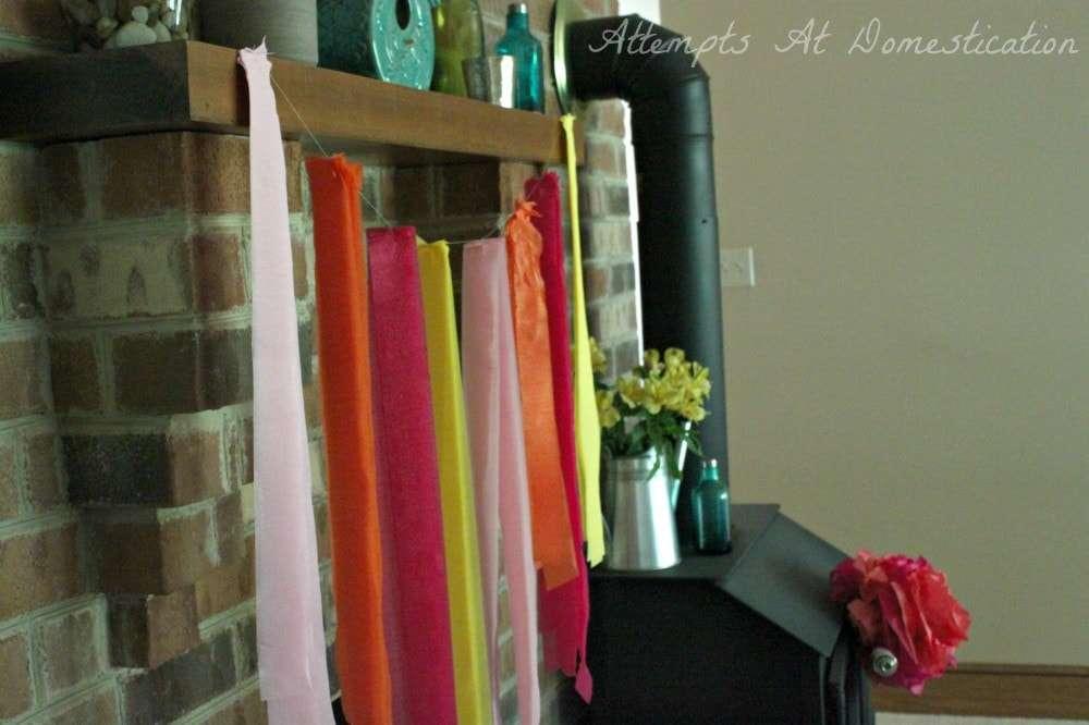 tissue paper garland decorations