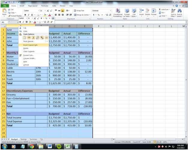 paying bills bi-weekly