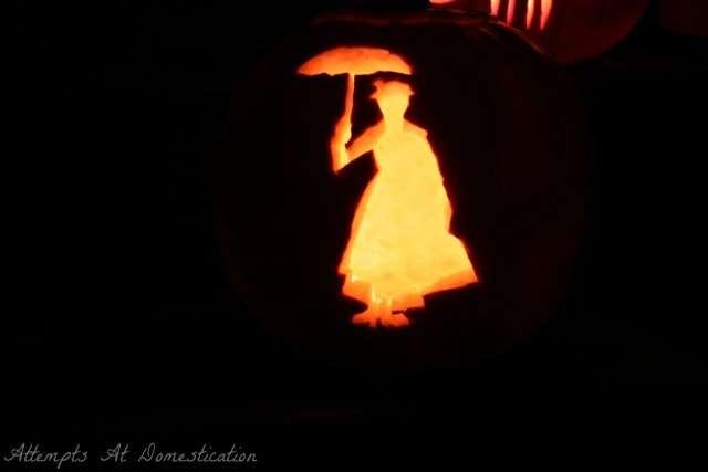 Mary Poppins pumpkin