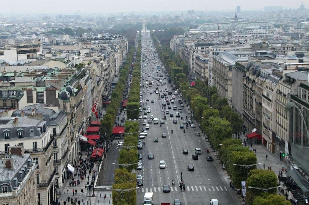 Paris - view from Arc de Triomphe