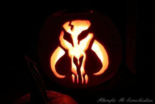 Star Wars bounty hunter pumpkin