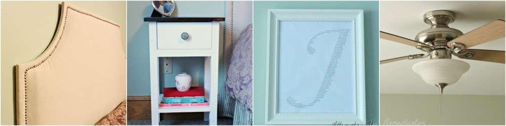 Bedroom recap collage