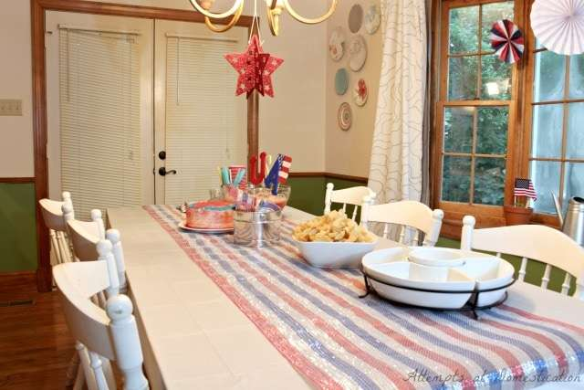Dining room July 4th decorations