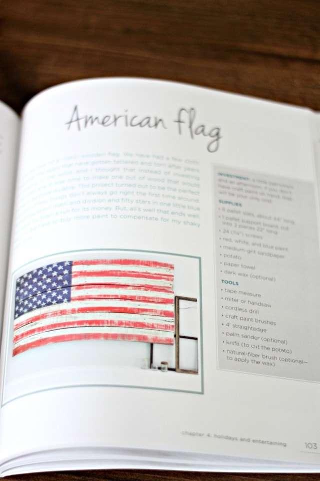 Pallet book - American flag