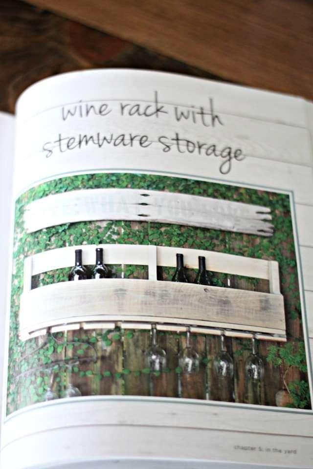 Pallet book - wine rack