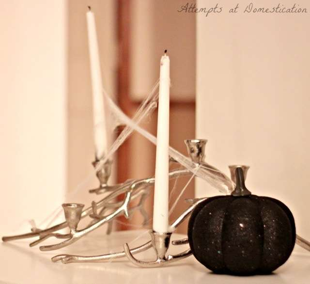 Spooky branch candles