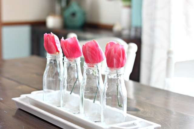 spring dining table centerpiece