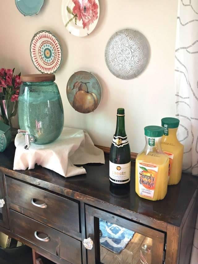 brunch party mimosa bar