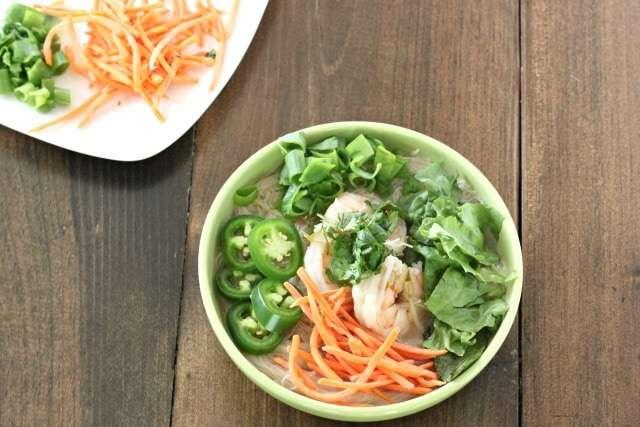 homemade pho with shrimp