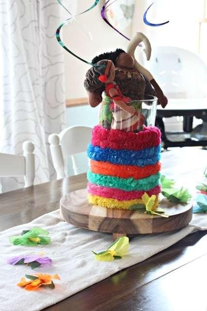 Moana birthday table decorations