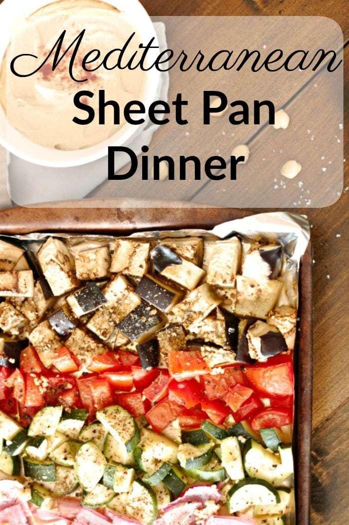 mediterranean sheet pan dinner